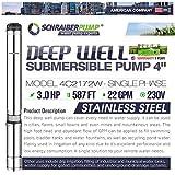 """SCHRAIBERPUMP 4"""" Deep Well Submersible Pump"""