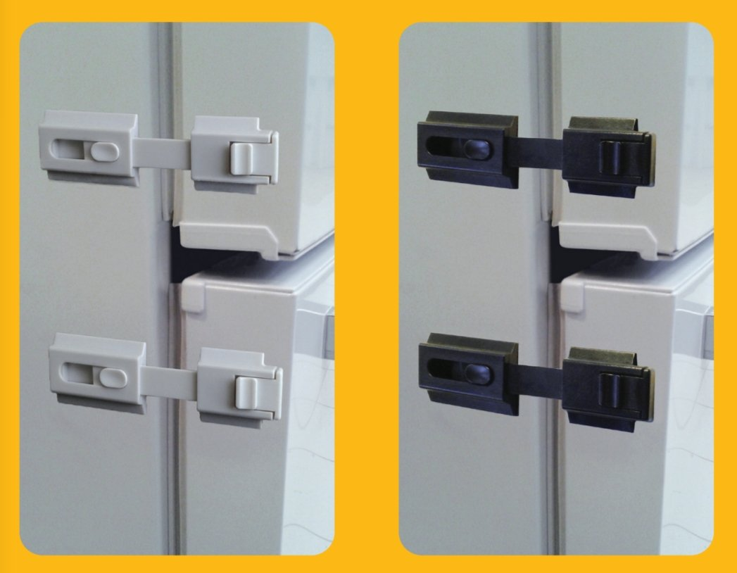 The Guardian Refrigerator Lock for any Home Appliance, used for Infants, Special Needs Children and Dementia Patients (White) by Door Guardian (Image #2)