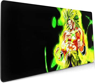 3mm Thick Extra Large Mouse Pad 31.5 X 11.8x0.12 - XL Protective Keyboard Desk Mouse Mat for Computer//Laptop Dragon Ball Goku Desk Mousepad