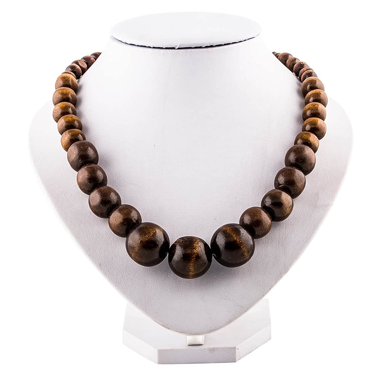 Amazon wood bead necklace evbea africa wooden chain statement amazon wood bead necklace evbea africa wooden chain statement unisex chunky necklaces clothing aloadofball Gallery