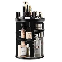 OOFO Kosmetik Organizer 360 Grad Drehbar Make up Aufbewahrungsregal Einstellbar Kosmetik Aufbewahrung 7 Verstellbare Ebenen Aufbewahrungsbox für Cremes, Pinsel und Lippenstifte, Schwarz