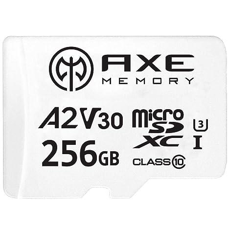 AXE Tarjeta de memoria microSDXC de 256 GB + adaptador SD ...