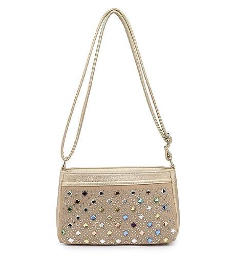 f859b03b6e20 Ladies Diamante Studded Cross Body Bag - Travel Women s Handbag Messenger  MA36117 (Small