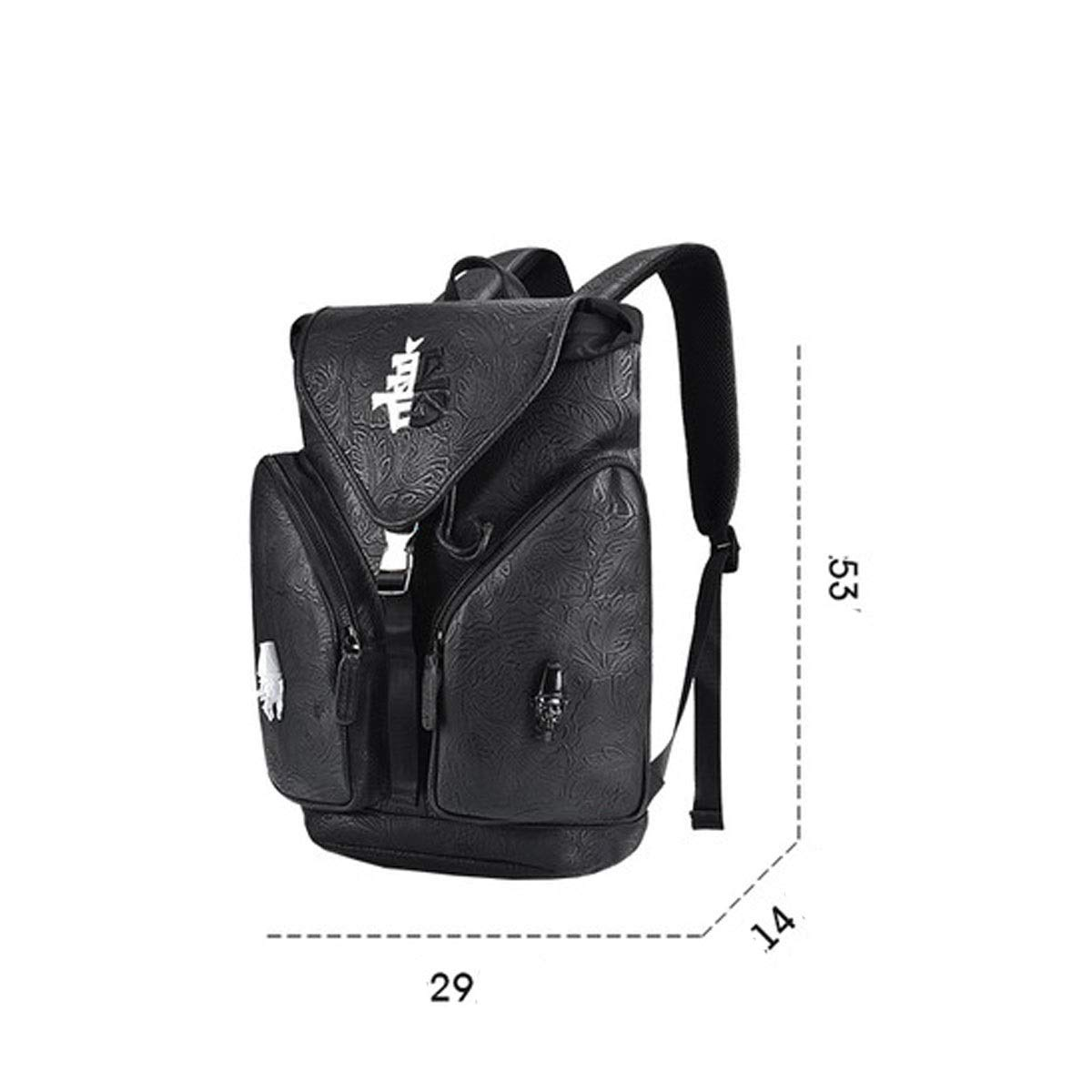 Large Capacity Personalized Backpack Color : Black Backpack Zhongyue Chinese Style Men and Women Fashion Bag Sports Backpack Street Fashion