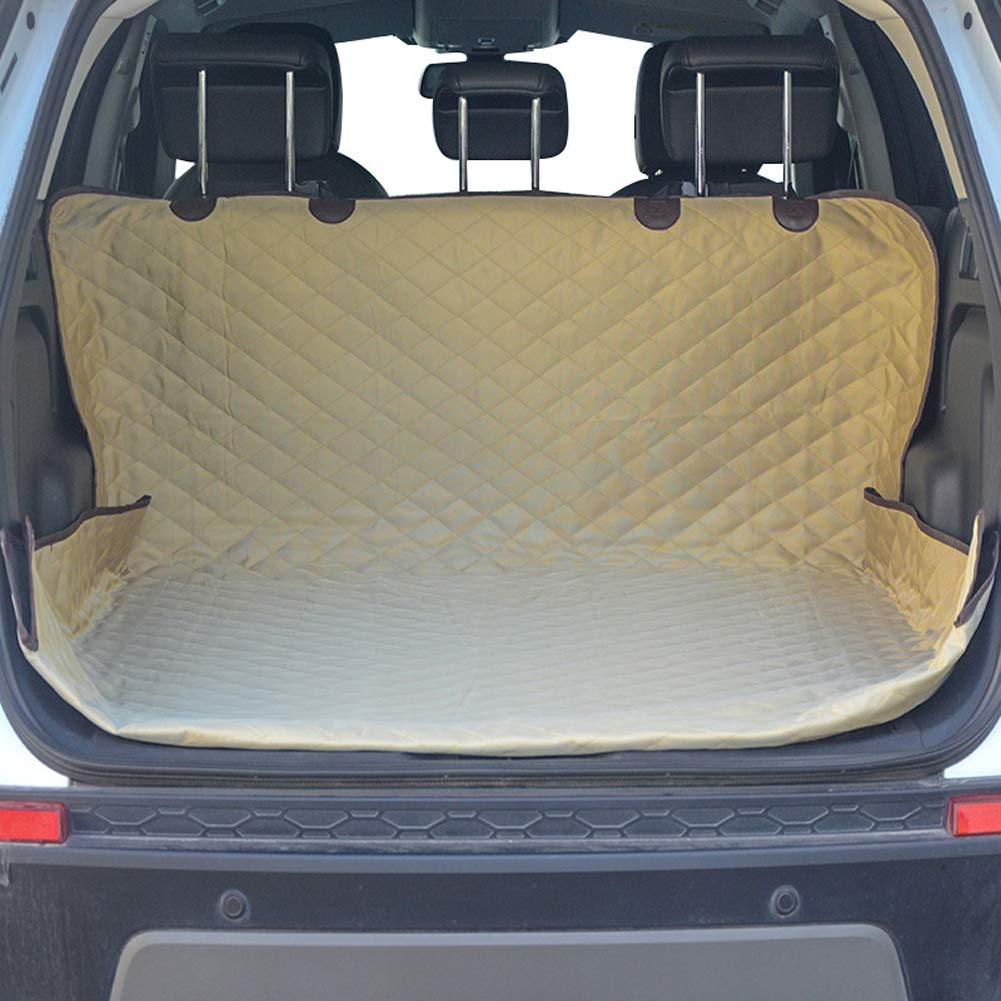 Khaki SELCNG Pet Car Trunk Mat for Cars, Trucks, Waterproof and Non-slip (khaki)