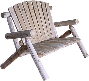 Lakeland Mills 4-Foot Cedar Log Love Seat
