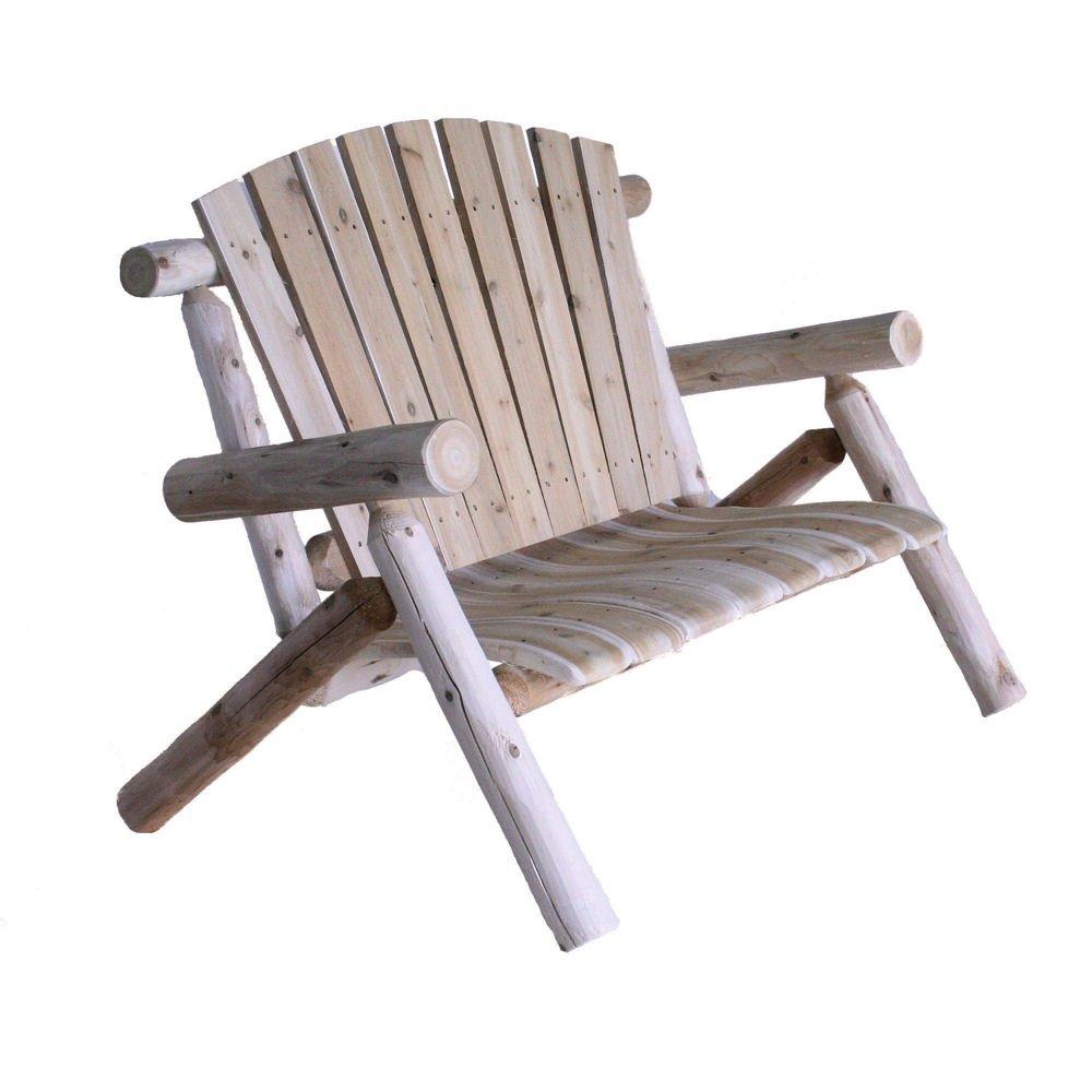 Lakeland Mills 4-Foot Cedar Log Love Seat, Natural by Lakeland Mills