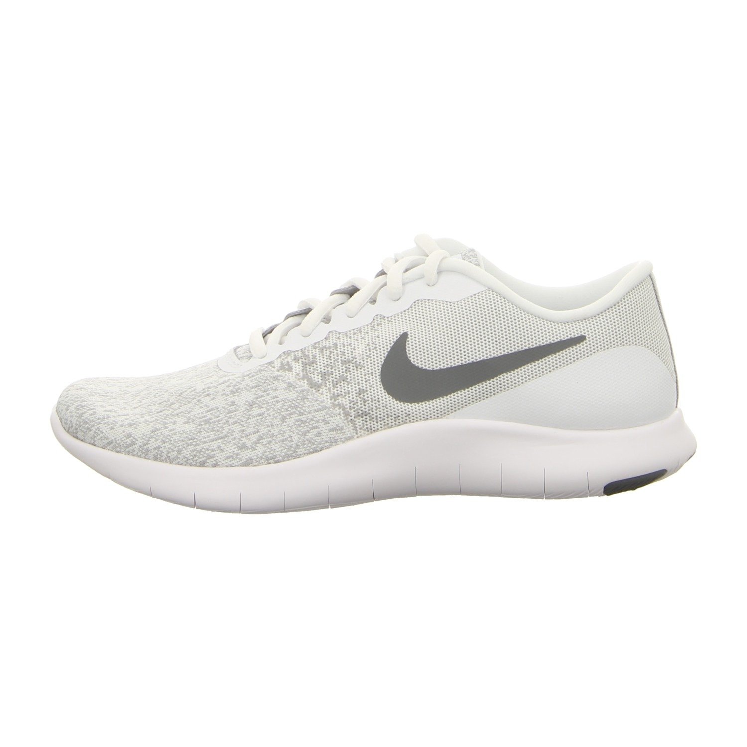 a30abee9c6b2c Nike Women's Flex Contact Running Shoe White/Cool Grey-Metallic Silver Size  8