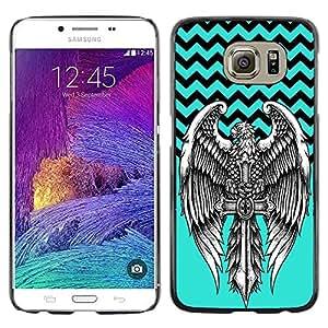 Dragon Case - FOR Samsung Galaxy S6 - No cross no crown - Caja protectora de pl??stico duro de la cubierta Dise?¡Ào Slim Fit