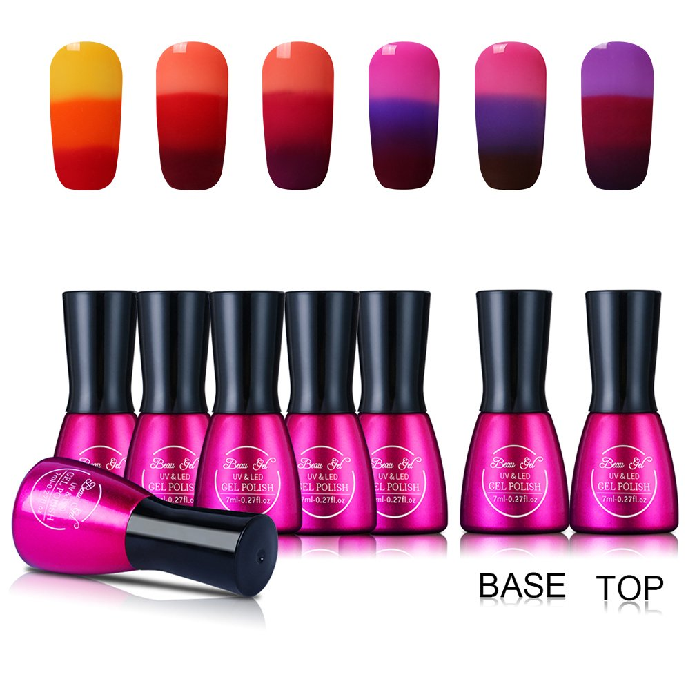 Beau Gel Tri-Colour Temperature Colour Changing Nail Gel Polish 7ml ...