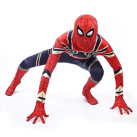 BLOIBFS Disfraz Niño Spiderman, Halloween Adultos Traje ...