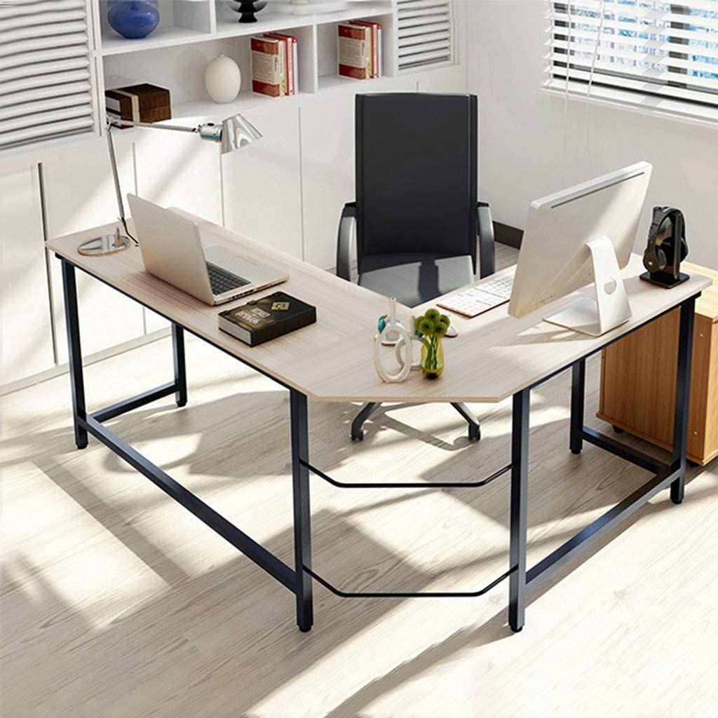- Amazon.com: Wearefo Office L Shaped Laptop Desk Home Desk Large