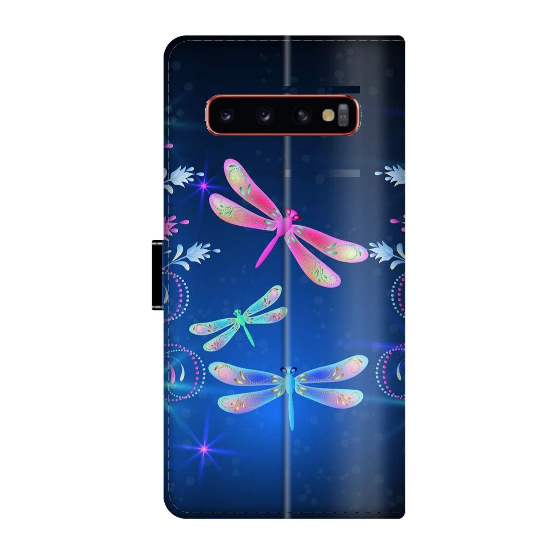 Amazon com: Samsung Galaxy S10 Wallet Case Dragonfly TPU