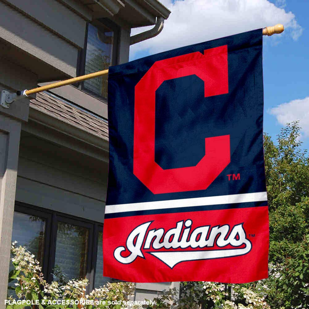WinCraft Cleveland Indians Two Sided House Flag