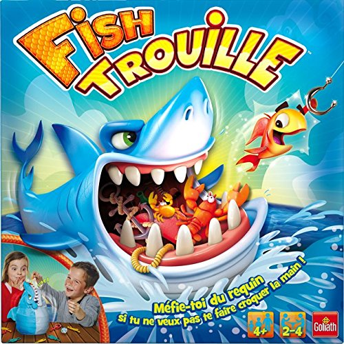 Attack Board Game (Fish Trouille Tricky Snappy Shark Bite Attack Board Game Interactive Family Fun Toy)