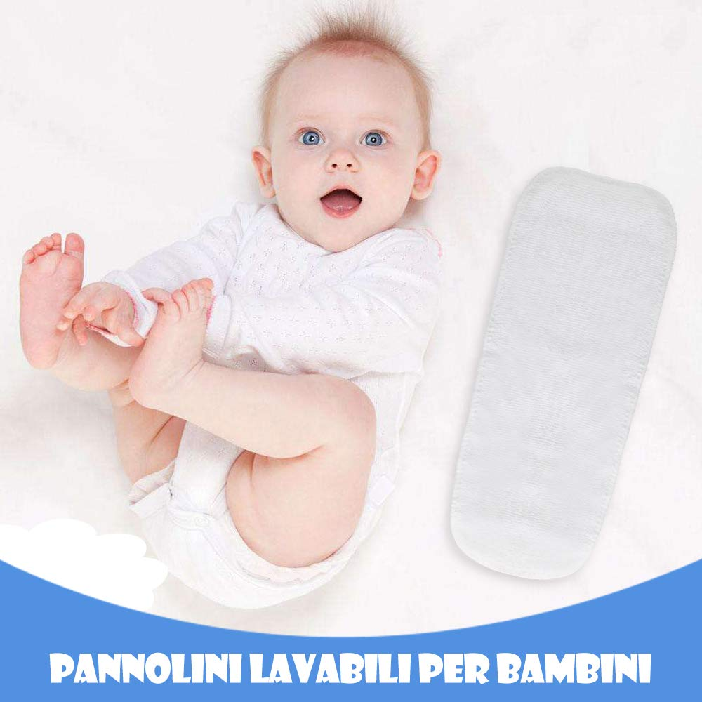 Mutandine Apprendimento Riutilizzabile con Un Pannolini Lavabili per Bambini Lictin 7 Pezzi Mutandine di Apprendimento