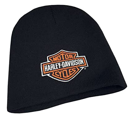 1156e70711cd3 Image Unavailable. Image not available for. Color  Harley-Davidson Mens  Embroidered Bar   Shield Knit Beanie Cap ...