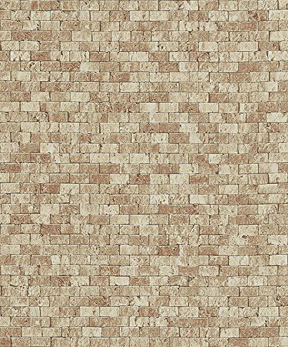 Brick Brown Wood Stone Wallpaper Sample Modern Urban Chic Wall