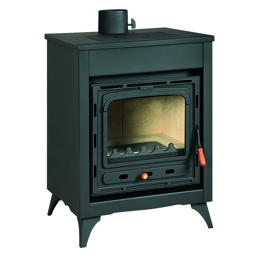 Estufa de leña Prity, Modelo Señor, salida de calor 10 kW, patas: Amazon.es: Bricolaje y herramientas