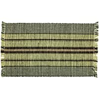Burdette Stripe Black and Tan Early American Rag Rugs