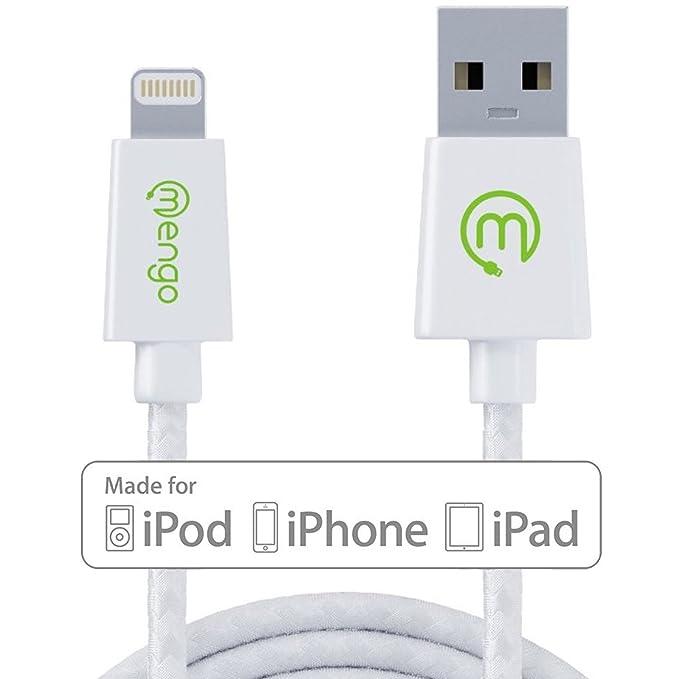 Mengo - Cable de datos, cargador certificado de Apple MFI, 2 ...