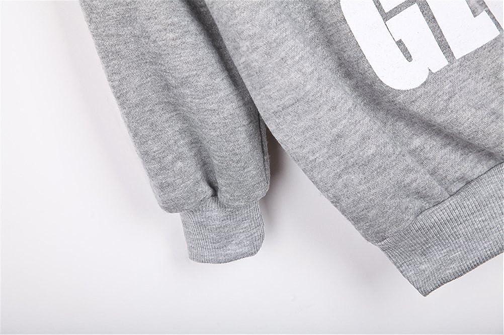 Sheinside - Sudadera - Logotipo - para mujer gris Grau1: Amazon.es: Ropa y accesorios