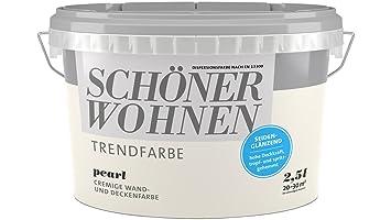 SCHÖNER WOHNEN FARBE Wand- und Deckenfarbe Trendfarbe Pearl ...
