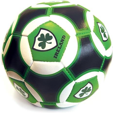 15,24 cm Irlanda verde, blanco y negro irlandés pelota con trébol ...