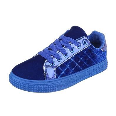 30b416ce60650e Ital-Design Low-Top Sneaker Damen-Schuhe Low-Top Sneakers Schnürsenkel  Freizeitschuhe