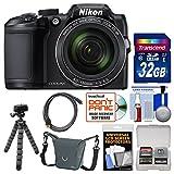 Nikon Coolpix B500 Wi-Fi Digital Camera (Black) with 32GB Card + Case + Flex Tripod + Kit