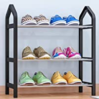 Simple Shoe Rack Multilayer Plastic Shoes Rack Assembly Shoe Rack for Home Bedroom Office, 16.5x8x17.7in