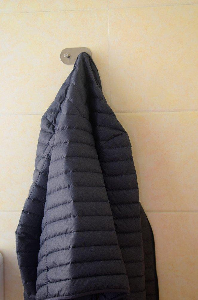 montaggio a parete finitura spazzolata sus 304/in acciaio INOX gancio appendiabiti adesivo 3/m resistente telo accappatoio vestiti ganci per bagno cucina garage Heavy Duty