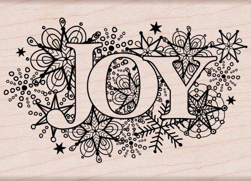 Hero Arts Joy Burst Woodblock (Christmas Rubber Stamps)