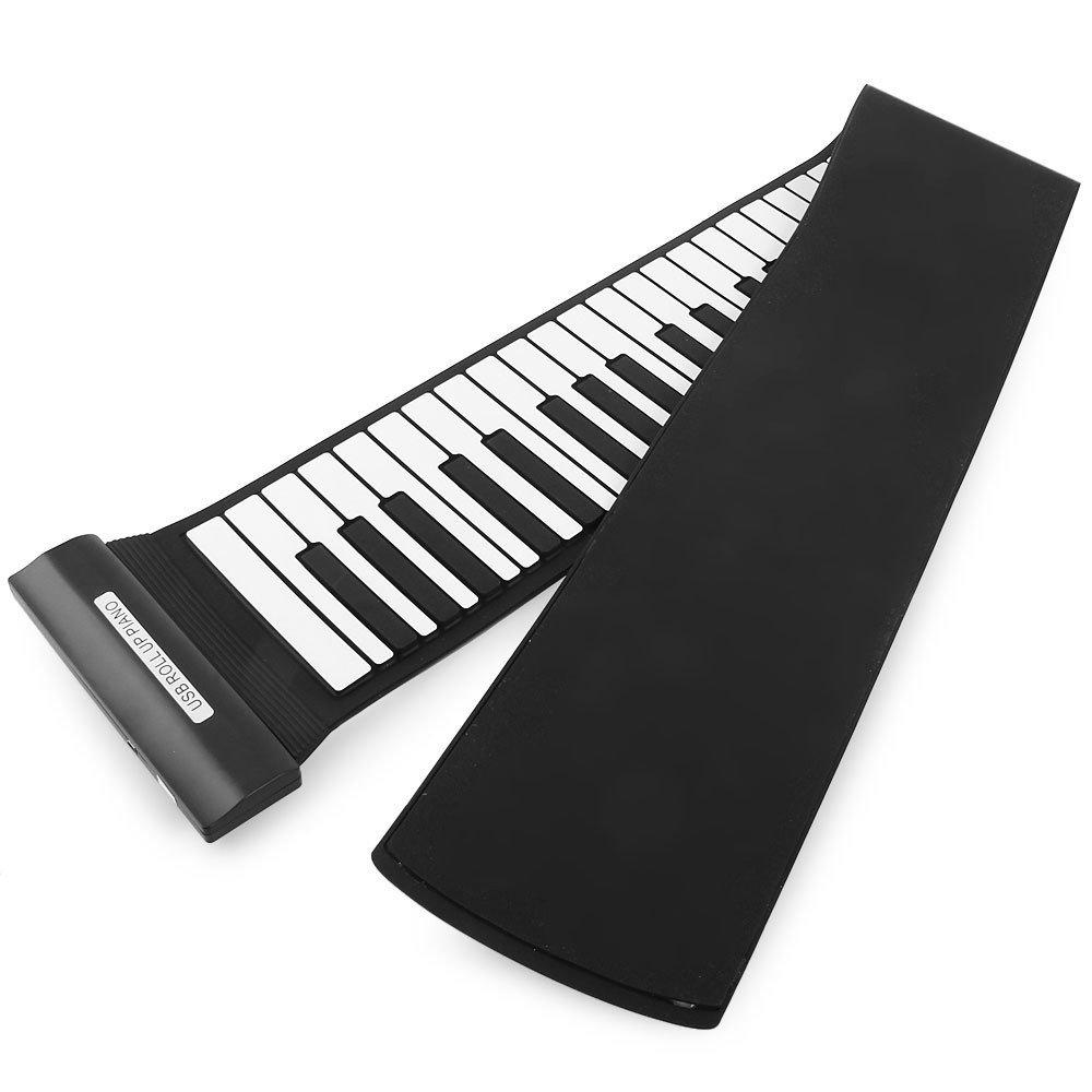 Coondmart New Creative Wireless Keyboard MD88S USB MIDI Roll Up Piano Kit with Flexible 88 Keys Professional MIDI Keyboard For Children