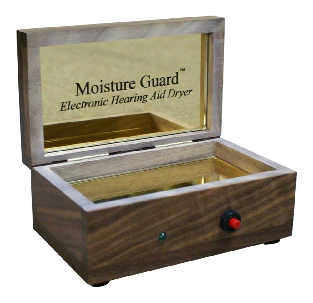 Moisture Guard Electronic Hearing Aid Dryer - Walnut by Moisture Guard