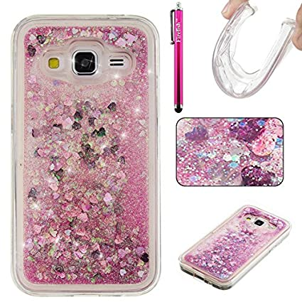 promo code ae097 a562d Galaxy G360 Case, Galaxy Core Prime Case, Firefish Bling 3D Sparkle  Floating Dynamic Flowing Shockproof [Flexible] Gel Silicone [No Slip] Back  Cover ...