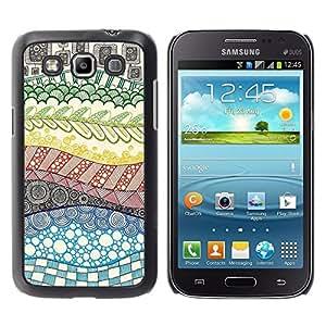 "Pulsar Snap-on Series Teléfono Carcasa Funda Case Caso para Samsung Galaxy Win I8550 , Hand Drawn extracto del arco iris"""