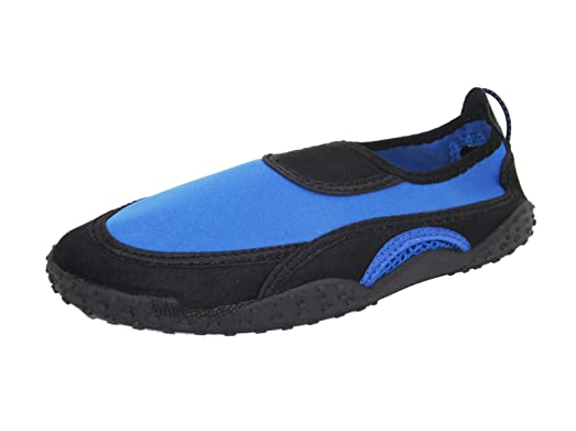 Womens Water Shoes Aqua Socks Pool Beach YogaDance and Exercise 5 Colors Available (6 Black/Royal)