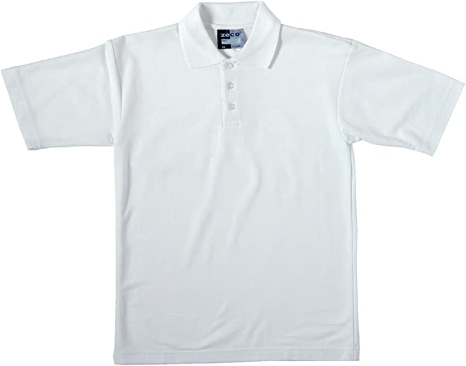 Zeco sold by Essential Wear Niños Escuela Color Blanco Polo de ...