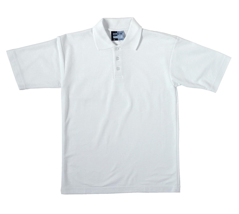 2 camisas polo escolares manga corta blancas de alta calidad para ...