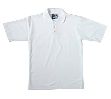 824193771 Zeco sold by Essential Wear Boys School White Short Sleeve Polo T Shirt  Ages 2-11: Amazon.co.uk: Clothing
