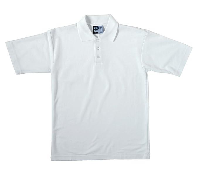 2 camisas polo escolares manga corta blancas de alta calidad para  ni ntilde os de 2 nbsp 89987f58906ab