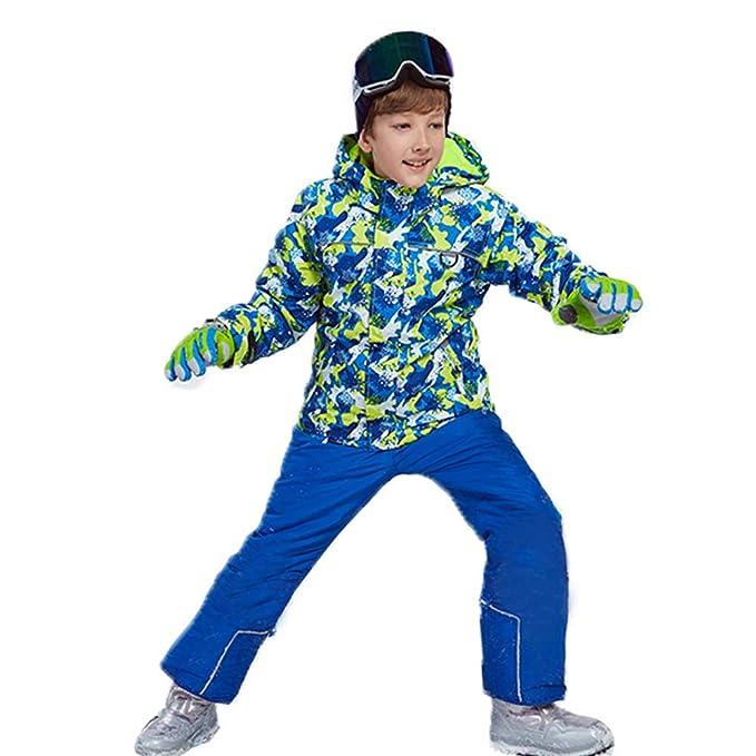 5e8bf4ef1830 Wonny Boys Girls Ski Jacket Pants Kids Waterproof Winter Skisuit ...