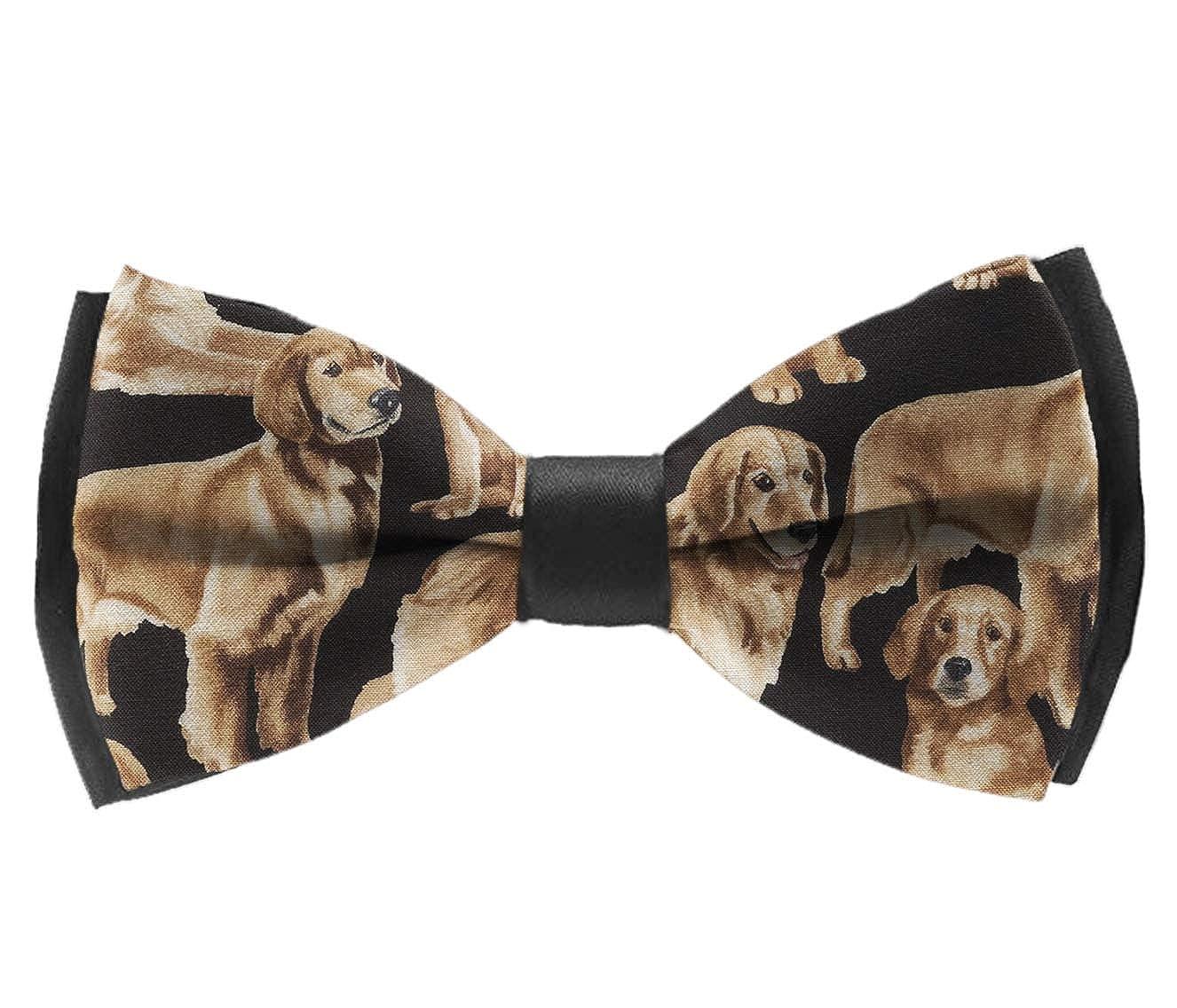 Bow Tie Golden Retrievers Adjustable Bowtie for Wedding Party