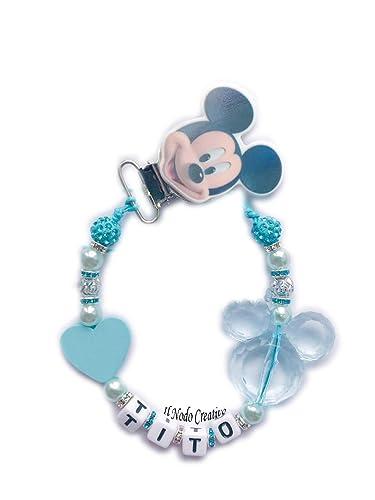 Cadena de chupete Mickey Mouse Disney | chupetero con nombre ...
