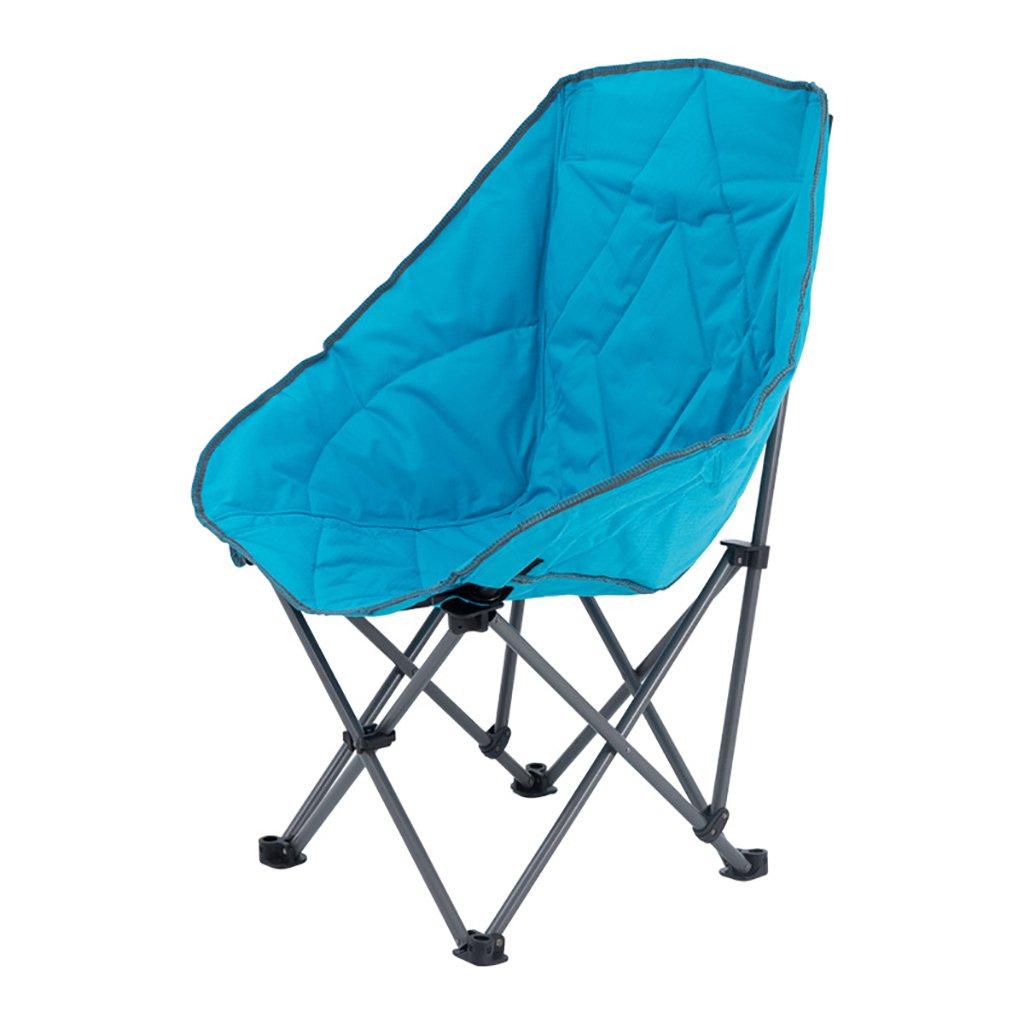 Camping klappstuhl Klappstuhl im Freien, Fischen-Freizeit-Stuhl, Breathable fester beweglicher Strand-Stuhl, ( Farbe : Blau )