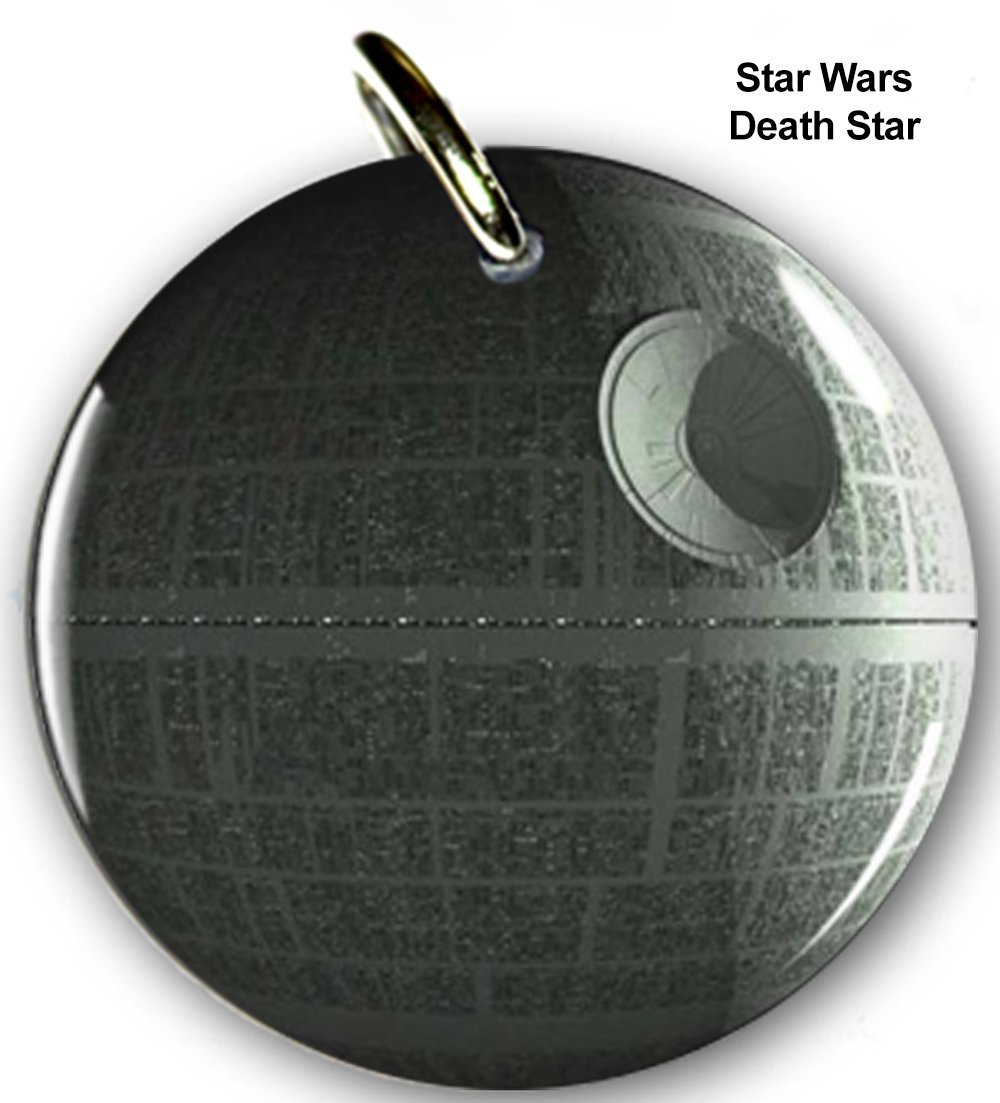 Pet ID Tags Dog Tags Star Wars Death Star (Medium 1.25'')