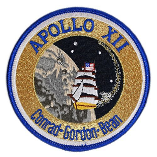 (Apollo 12 Mission Embroidered Patch (Official Patch) (10cm Dia) approx by Klicnow)