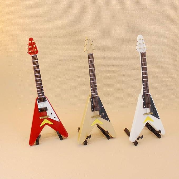 neoglory simula guitarra para Casa de las muñecas 18 cm Modo SE ...