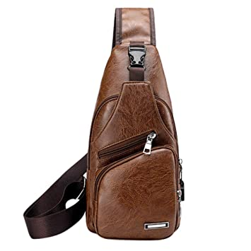 4723fd0a87c0 EnjoCho Men s Crossbody Bags Men s Chest Bag Designer Messenger Bag Leather  Shoulder Bags 2019 Travel (